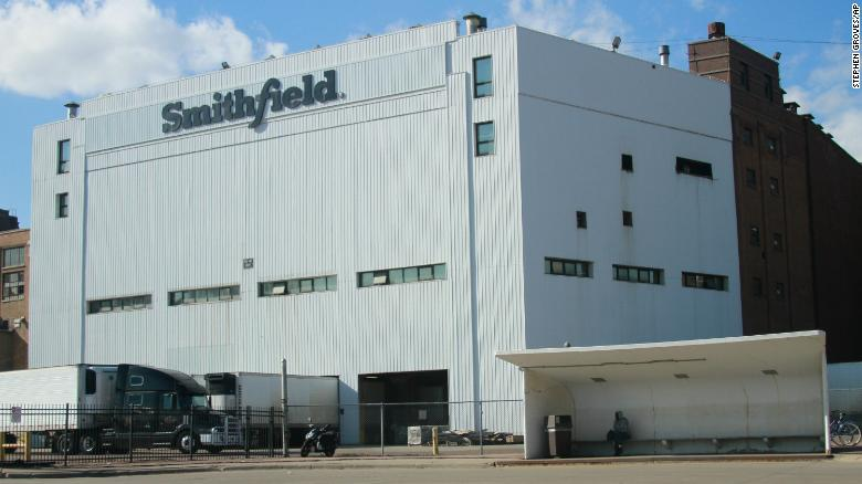 The Smithfield pork processing plant in Sioux Falls, South Dakota.