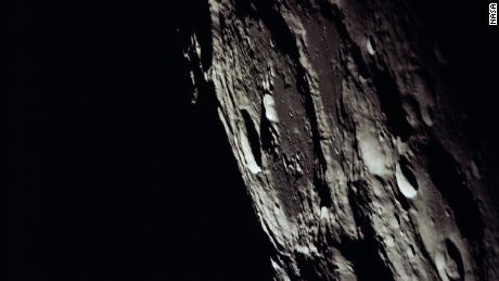 The astronauts captured this image of Crater No. 302 on the farside of the moon.