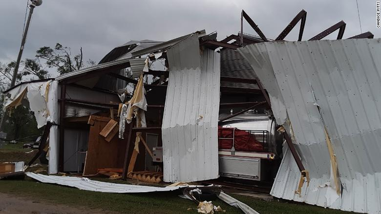 Parts of Mississippi were devastated by storms that tore through the South.
