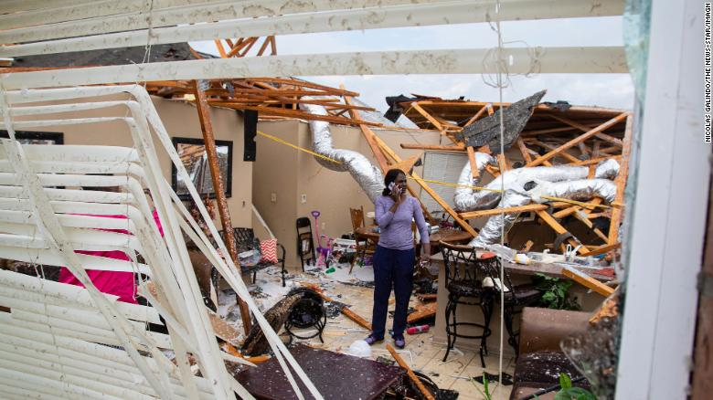 Deadly storms shredded homes in Monroe, Louisiana.