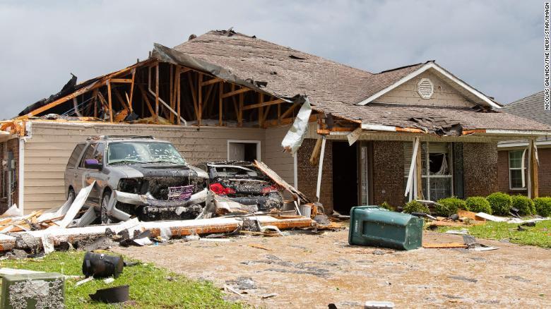 An Easter Sunday tornado ripped through Monroe, Louisiana.