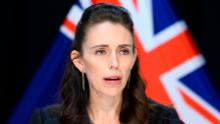 New Zealand Prime Minister Jacinda Ardern at a press conference  on April 09, 2020 in Wellington, New Zealand.