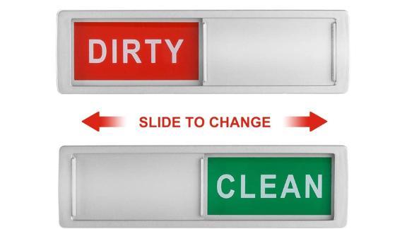 Cimkiz Dishwasher Magnet Clean Dirty Sign