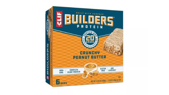 Clif Builders Protein Bars, Crunchy Peanut Butter, 6 ct