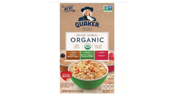 Quaker Organic Instant Oatmeal Variety Pack, 8 ct
