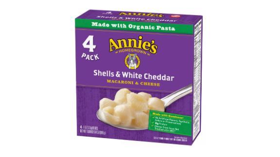 Annie's Shells & White Cheddar Macaroni & Cheese, 4 ct