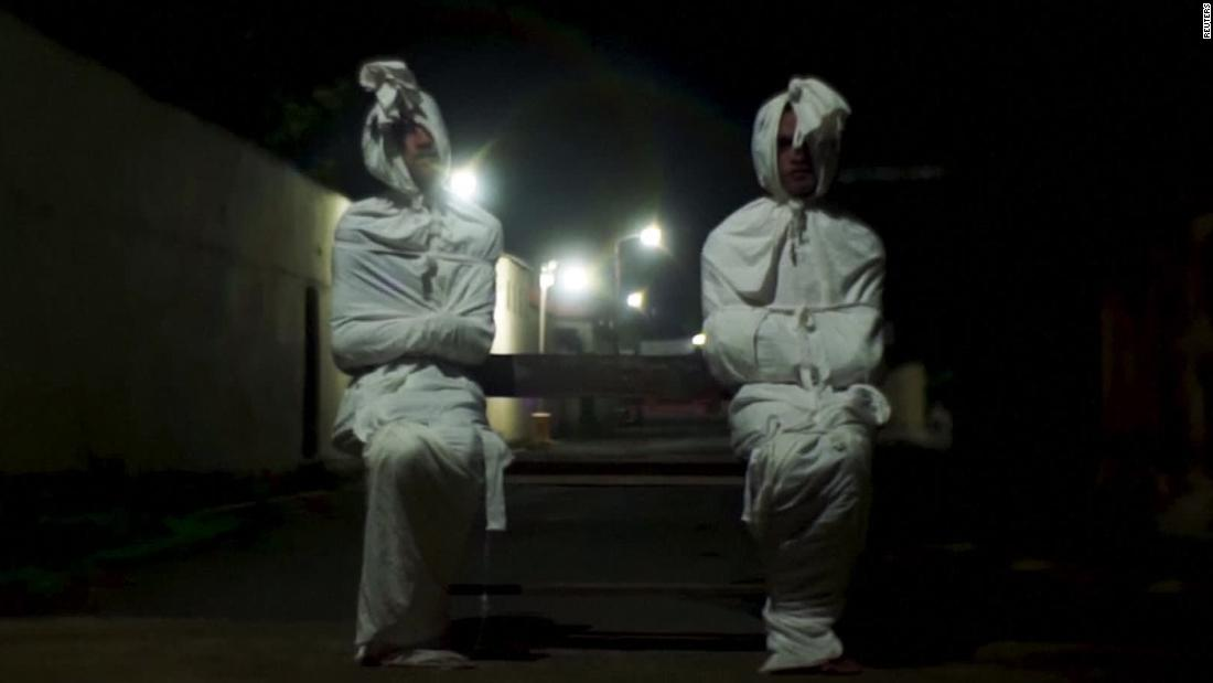 'Ghosts' try to spook people off streets during pandemic