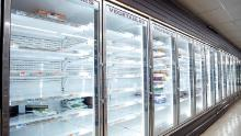 Empty store shelves are seen in a supermarket as people has been stocking up for food and other essential items fearing the supply shortages.