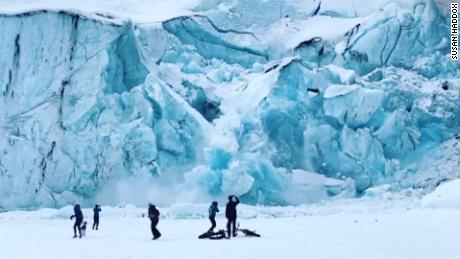 Alaska glacier collapse captured in slow motion - CNN Video