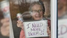 The 93-year-old's plea for more beer went viral.