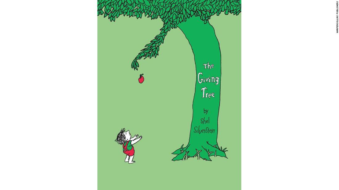 """The Giving Tree"" by Shel Silverstein: Silverstein leads children through the evolving stages of relationships through the bond of a boy and an apple tree, showing how friends can make each other feel with the things they say and do."