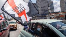 Protesters in Warsaw rally against a proposed abortion ban.