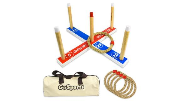 GoSports Premium Wooden Ring Toss
