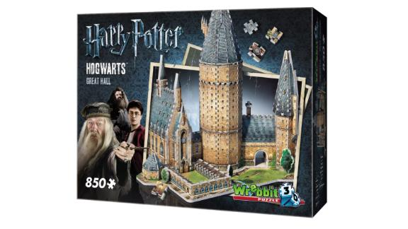 Wrebbit Harry Potter Hogwarts Great Hall 3D Puzzle 850 Pieces