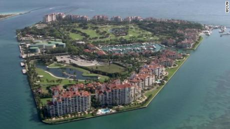 The average income on Fisher Island was $2.5 million in 2015, according to Bloomberg.