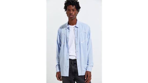 UO Western Rayon Button-Down Shirt