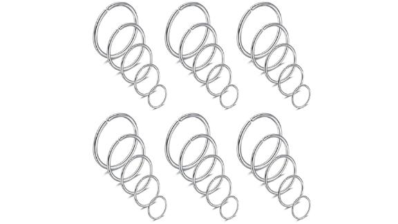 Ruifan Non-Pierced Stainless Steel Clip-On