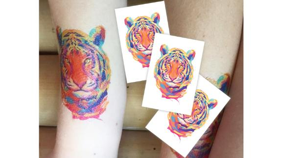 Set of 3 Temporary Tiger Tattoos