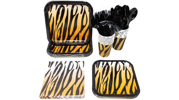 Tiger Stripe Party Supplies Pack