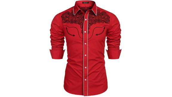 Coofandy Men's Western Shirts