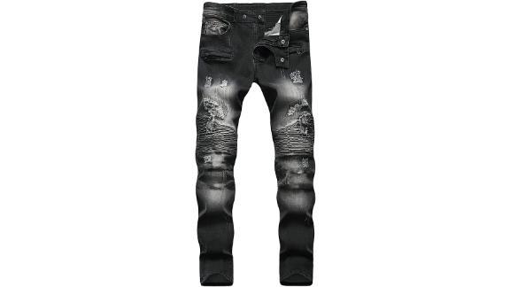 Liuhond Skinny Slim Fashion Men's Ripped Jeans