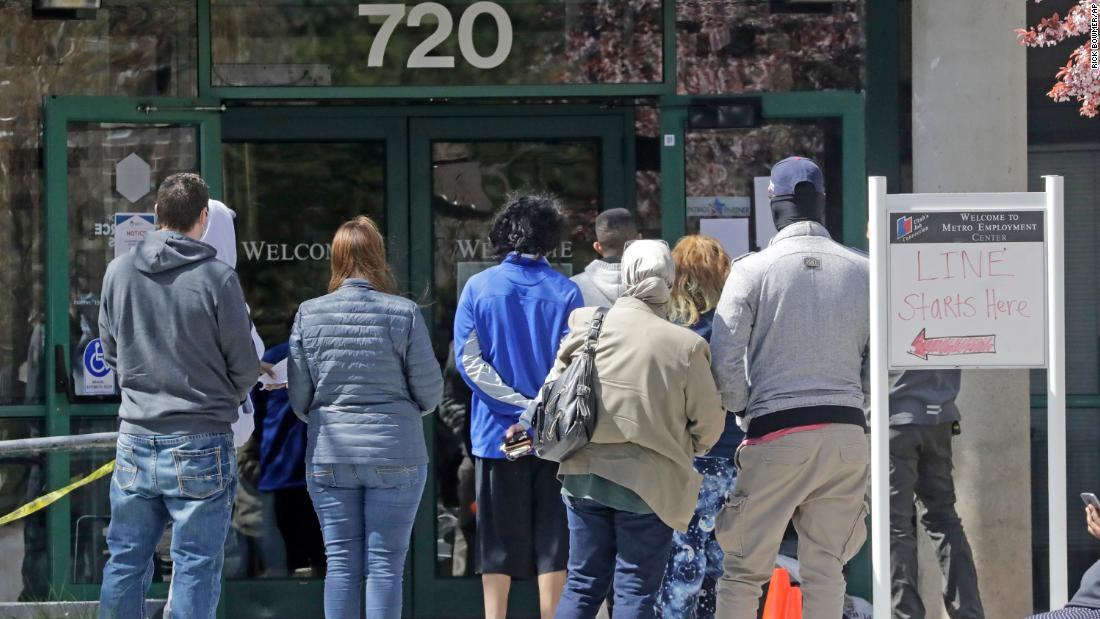 22 million Americans have filed for unemployment benefits in the last four weeks