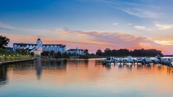 Use your reward night certificate at properties like the Hyatt Regency Chesapeake Bay Golf Resort.