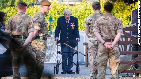 War veteran 'Captain Tom,' 99, raises $15 million for NHS as he completes garden challenge