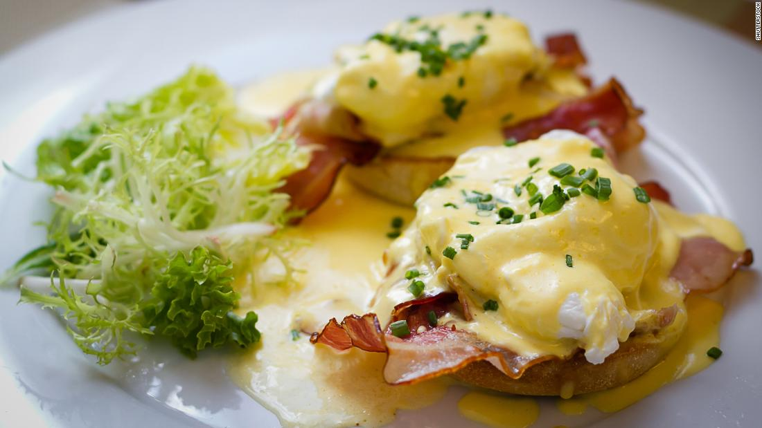 "<strong>Eggs Benedict</strong>: Food writer Michael Ruhlman says of US brunch staple, Eggs Benedict, ""Waiter, I'd like an egg, with butter and more egg on top, please."""