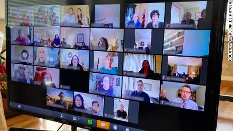 Alicia de Artola said the virtual funeral for her grandmother drew about 50 participants or households via Zoom, and another 50 or so via a Facebook livestream at the same time.