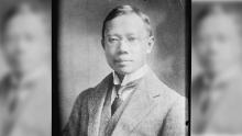 This photo taken sometime between 1910 and 1915 shows Dr. Wu Lien-teh, a Cambridge-educated Chinese physician who pioneered the use of masks during the Manchurian Plague of 1910-11.