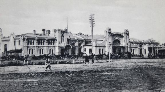 Harbin Railway Station, taken in about 1900.