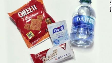 Delta's new snack kit for passengers.