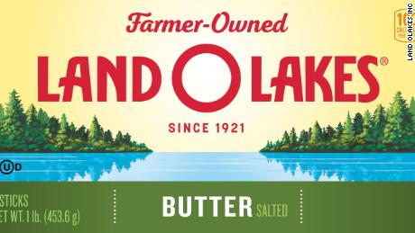The new package of Land O'Lakes butter.