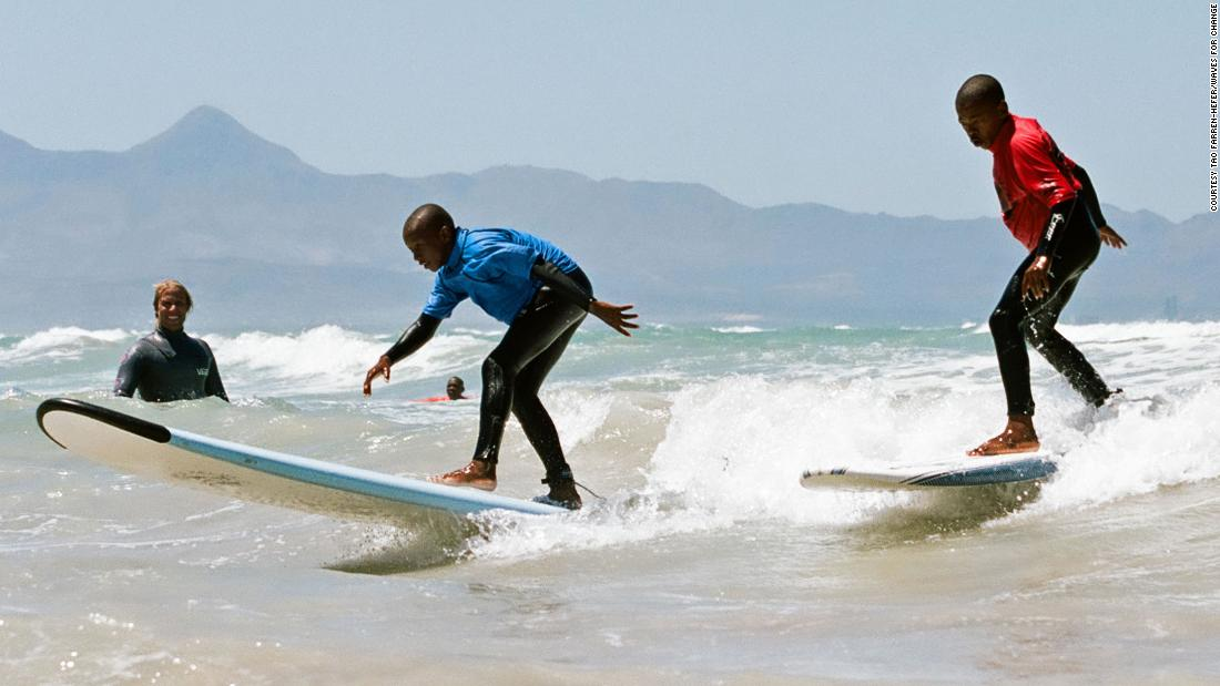 Waves For Change is a South African organization that use surfing as a form of therapy for at-risk youth.