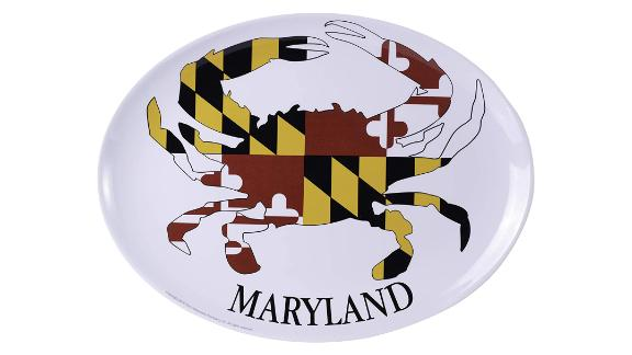 Galleyware Maryland Crab Melamine Oval Platter