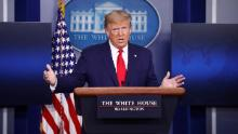 Fact check: Trump's Saturday coronavirus briefing was littered with false claims, old and new