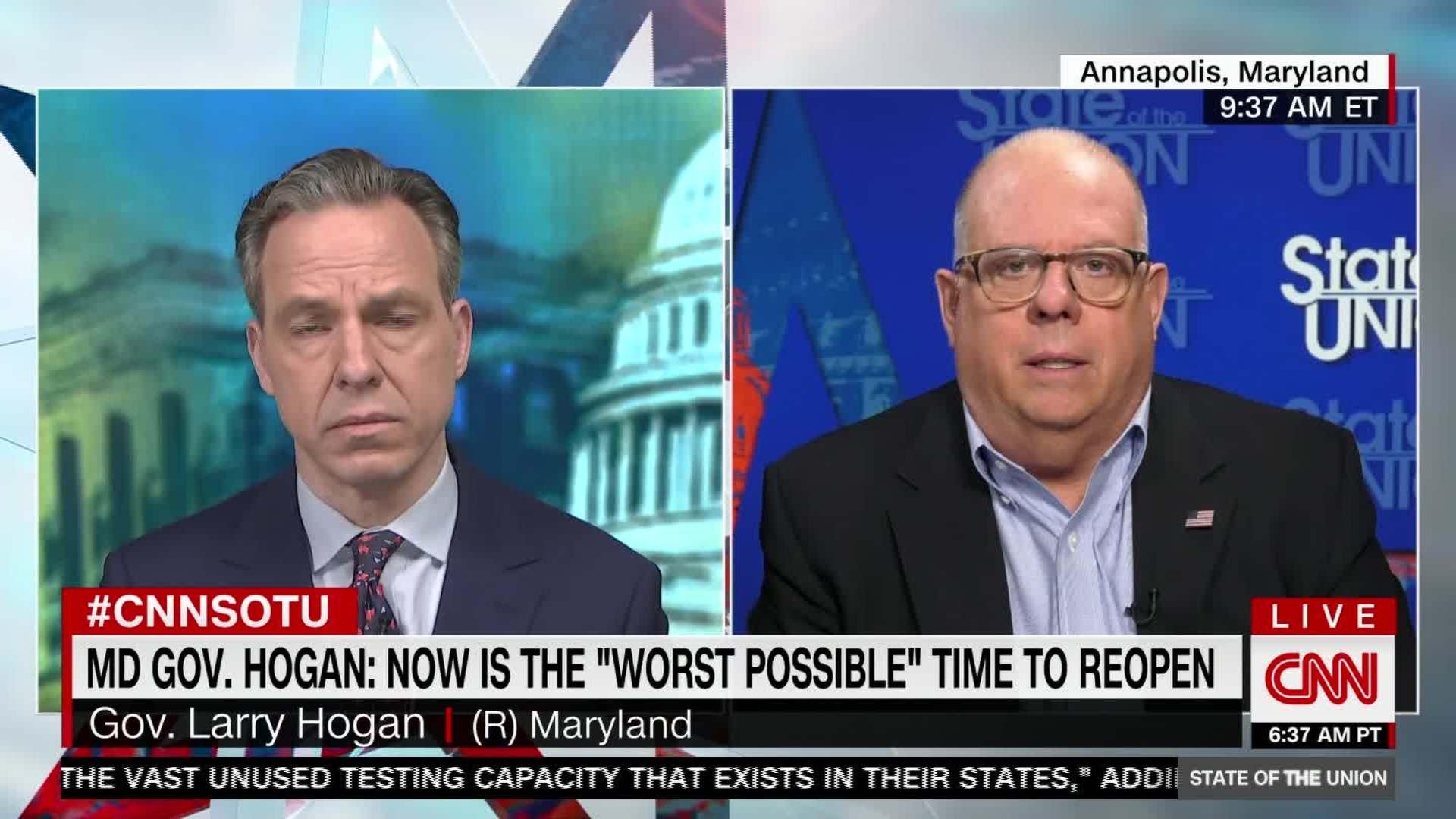 Hogan: 'Absolutely false' to blame govs over testing