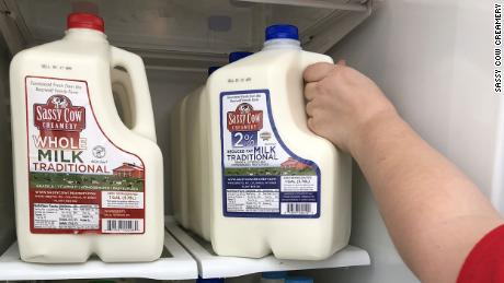 Sassy Cow Creamery is providing milk for  the Columbus, Wisconsin community.