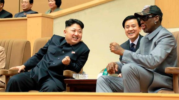 In January 2014, Kim hosted basketball legend Dennis Rodman and other former NBA players who were taking on North Koreans in an exhibition game. Kim grew up a massive basketball fan, and he and Rodman struck up a friendship. This was Rodman