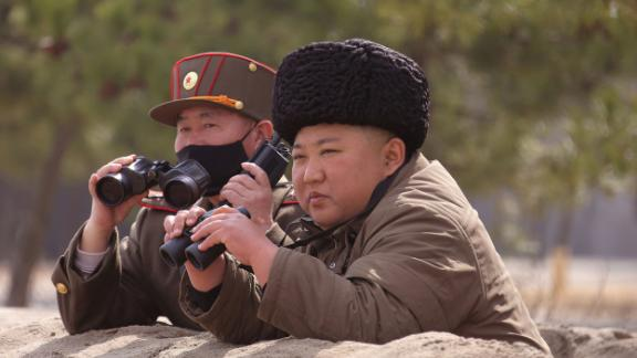 Kim is seen in this undated photo released by the Korean Central News Agency in March 2020.