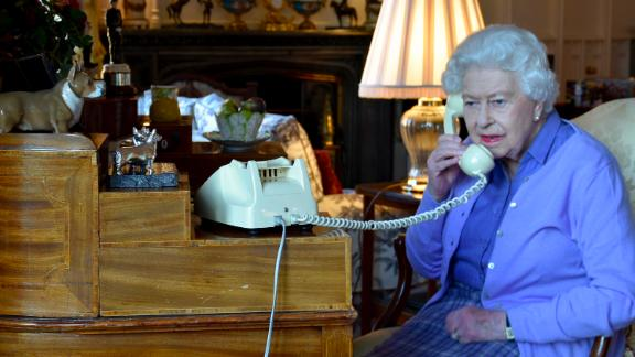The Queen speaks to Johnson from Windsor Castle in March 2020. Earlier in March, Buckingham Palace announced that the Queen would be postponing engagements in response to the coronavirus pandemic. Johnson later announced on Twitter that he had tested positive for the virus.
