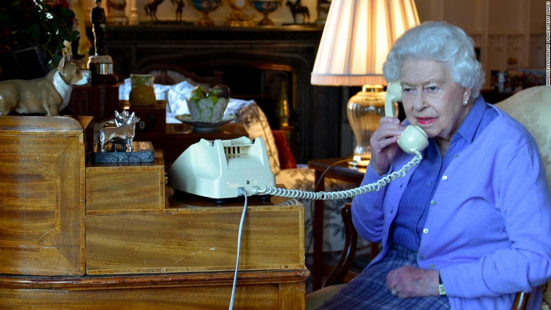 "The Queen speaks to Johnson from Windsor Castle in March 2020. Earlier in March, Buckingham Palace announced that the Queen would be <a href=""https://edition.cnn.com/2020/03/13/uk/queen-elizabeth-coronavirus-engagements-scli-gbr-intl/index.html"" target=""_blank"">postponing engagements</a> in response to the coronavirus pandemic. Johnson later announced on Twitter that he had <a href=""https://edition.cnn.com/2020/03/27/uk/uk-boris-johnson-coronavirus-gbr-intl/index.html"" target=""_blank"">tested positive</a> for the virus."