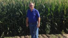 Dan Kelley on his farm near Normal, Illinois.