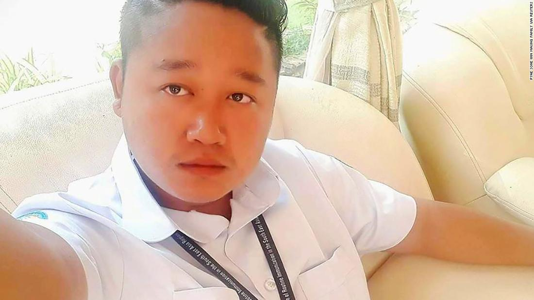 A selfie of Pyae Sone Win Maung, 28, driver for World Health Organization (WHO). The undated handout photo was provided by Pyae Sone Win Maung's family on April 21, 2020.