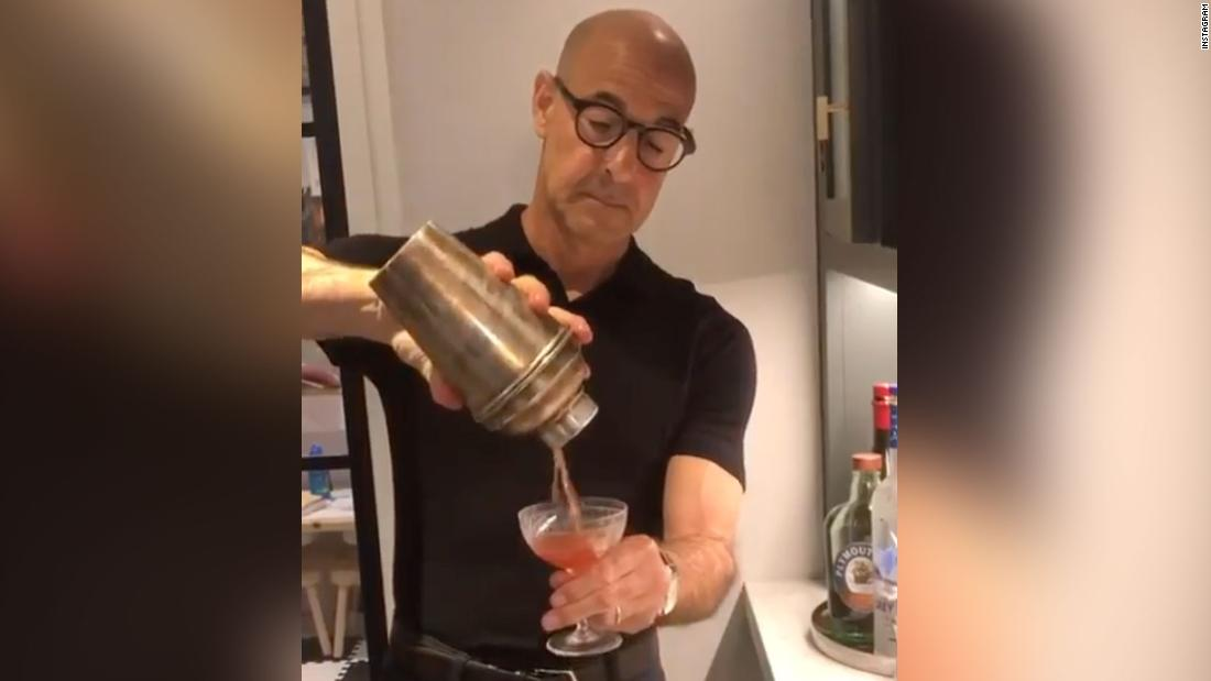 Photo of Stanley Tucci shows the world how to make the perfect Negroni | By Allen Kim, CNN