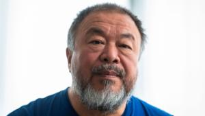 Berlin-based Chinese dissident artist Ai WeiWei speaks to AFP reporters in Berlin on August 15, 2019. - The Chinese artist Ai Weiwei sees no other way out of the Hong Kong crisis than a violent and massive repression of demonstrations by Beijing, according to the influential dissident in exile in an AFP interview.