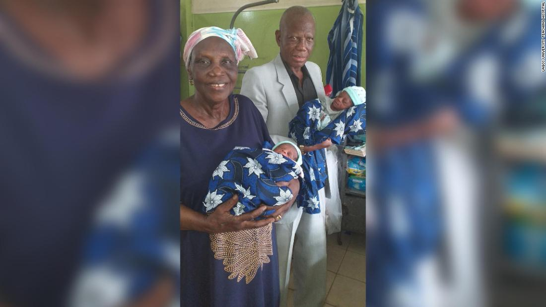 Nigerian woman gives birth to twins at age 68