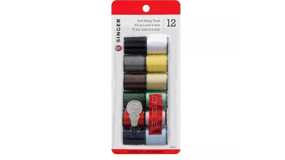 Singer 12pk Thread, Assorted Colors