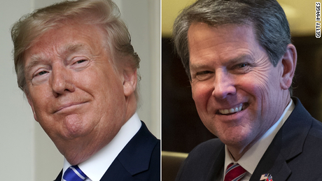 Trump pressed the governor of Georgia in a phone call to help turn Biden's victory in the state